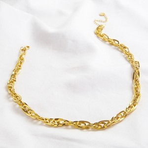 Oval Link Statement Chain Necklace Gold