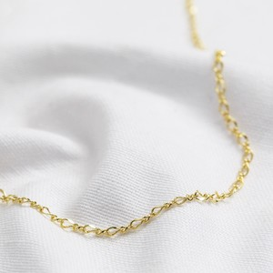 Double link necklace in gold - 40 cm + 5cm.