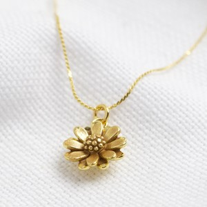 Worn gold daisy necklace