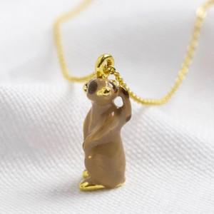 Enamel Meerkat necklace