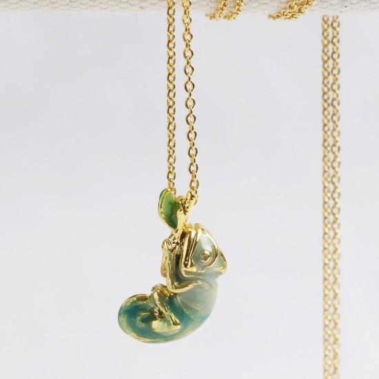 Enamel Chameleon necklace