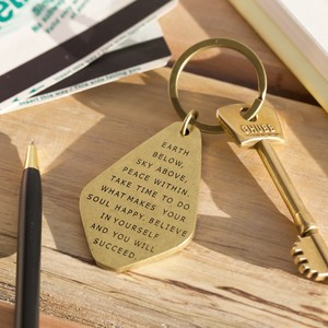 Believe in yourself antique brass keyring