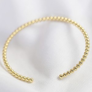 Ball bangle in Gold