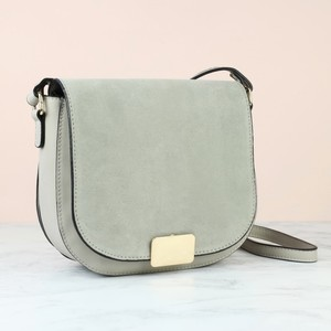 Fold Over Handbag -Grey  - PU & Leather