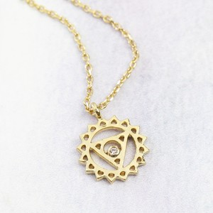 Throat Chakra Necklace in Gold