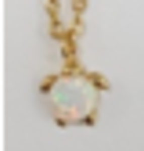 Opal Turtle anklet in Gold