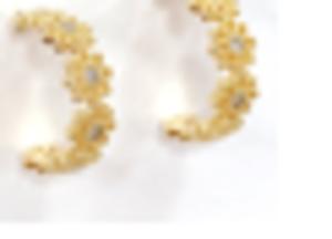 Daisy Hoop Earrings in Silver