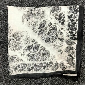 Black and White Block Printed Neck Scarf