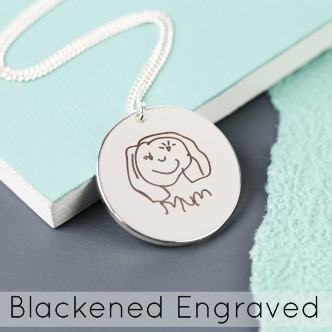 Lisa Angel Blackened Engraving