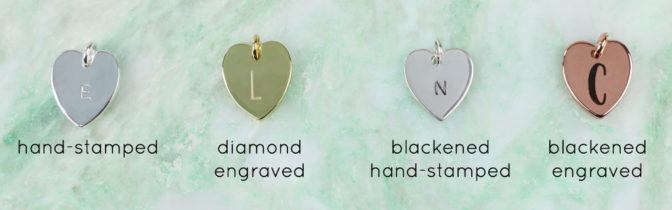 Lisa Angel Personalised Initials on Heart Charms
