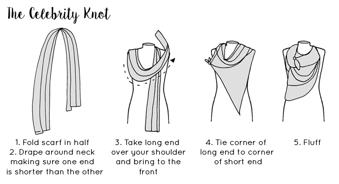 Ways to tie a scarf - The Celebrity knot scarf tying guide