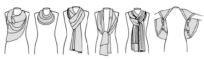 six ways to tie a scarf - Lisa Angel scarf tying guide