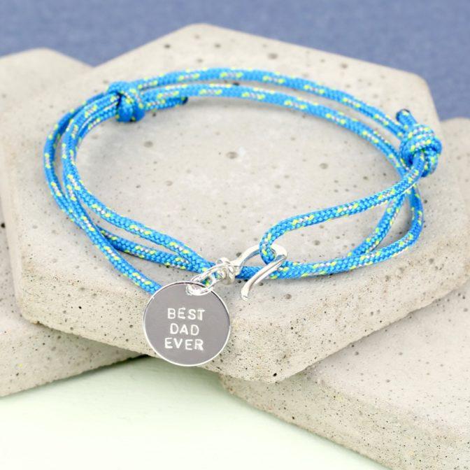 Men's Personalised Cord Bracelet