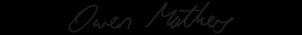 Owen Mathers signature